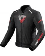 REV'IT Sprint H2O Jacket Black/Neon Red