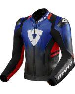 REV'IT Quantum 2 Jacket Blue/Neon Red
