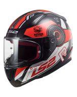LS2 FF353 Rapid Stratus Gloss Black/Red/Silver