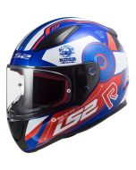 LS2 FF353 Rapid Stratus Gloss Blue/Red/White