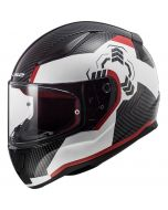 LS2 FF353 Rapid Ghost Gloss White/Black/Red