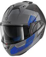 Shark Evo-One 2 Slasher Matt Anthracite/Black/Blue AKB