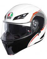 AGV Compact ST Vermont White/Black/Red 009
