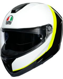 AGV Sportmodular Ray Carbon/White/Yellow Fluo 010