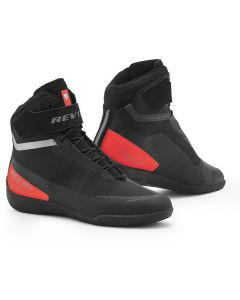 REV'IT Mission Shoes Black/Neon Red