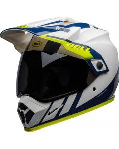 BELL MX-9 Mips Adventure Dash Gloss White/Blue/Hi-Viz
