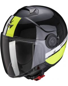 Scorpion EXO-CITY Strada Pearl Black/White/Neon Yellow
