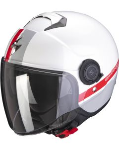 Scorpion EXO-CITY Strada White/Silver/Red