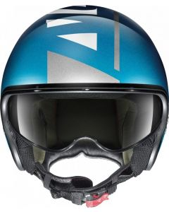 Nolan N21 Avant-Garde Flat Sapphire Blue/White 98