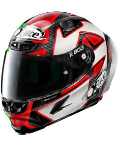 X-Lite X-803 RS ULTRA CARBON Replica D.Petrucci Misano - Black/Red/White 28