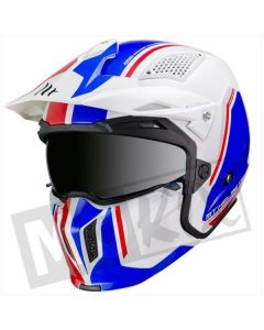 MT Streetfighter SV Twin Wit/Blauw/Rood
