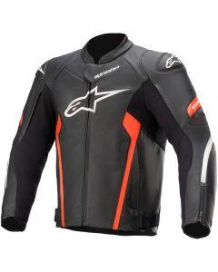Alpinestars Faster V2 Leather Jacket Black/Red/Fluo 1030