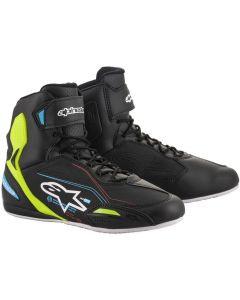 Alpinestars Faster-3 Shoes Black/Yellow/Fluo/Light Blue 1579