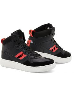 REV'IT Pacer Shoes Black/Neon Red