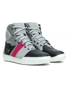 Dainese York Air Lady Shoes Light Grey/Coral T11