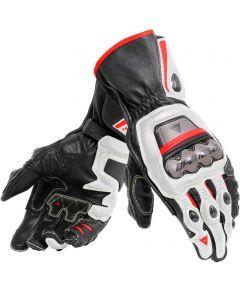 Dainese Full Metal 6 Gloves Black/White/Lava Red A66