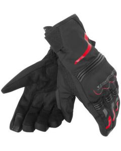 Dainese Tempest Unisex D-Dry Short Gloves Black/Red R08