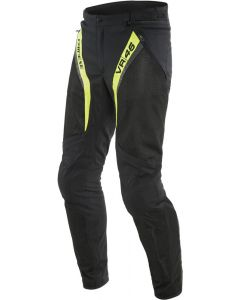 Dainese VR46 Grid Air Tex Trousers Black/Fluo Yellow 620