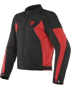 Dainese Mistica Tex Jacket Black/Lava Red B78