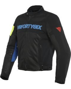 Dainese VR46 Grid Air Tex Jacket Black/Princess Blue/Fluo Yellow 39F