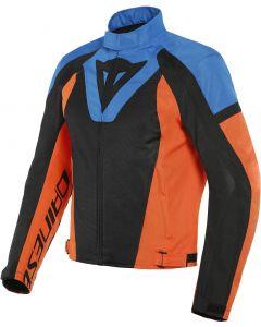 Dainese Levante Air Tex Jacket Black/Light Blue/Flame Orange 61F
