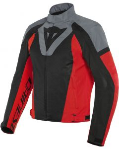 Dainese Levante Air Tex Jacket Black/Charcoal Gray/Lava Red 60F