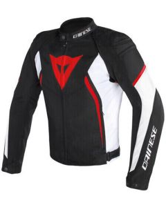 Dainese Avro D2 Tex Jacket Black/White/Red 858
