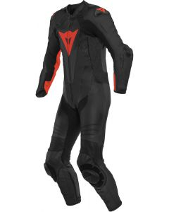 Dainese Laguna Seca 5 1Pc Leather Suit Perforated Black/Fluo Red 628