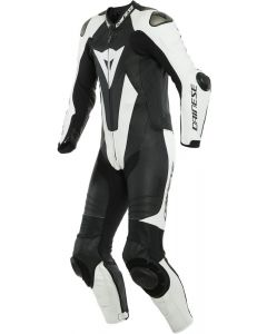 Dainese Laguna Seca 5 1Pc Leather Suit Perforated Black/White 622