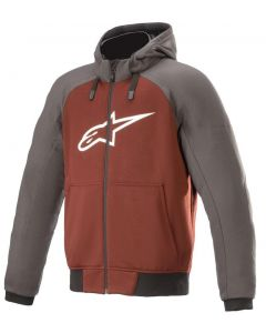 Alpinestars Chrome Sport Hoodie Tar Gray/Burgundy 9134