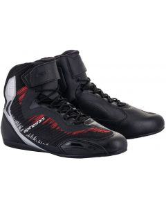 Alpinestars Faster-3 Rideknit Shoes Black/Silver/Bright Red 1930
