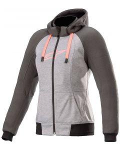 Alpinestars Stella Chrome Sport Hoodie Melange Gray/Tar/Diva/Pink 9169