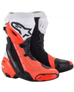 Alpinestars Supertech R Vented 2021 Boots Black/White/Red/Fluo 124