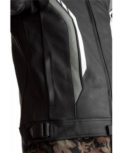 RST Axis Leather Leather Jacket Black/White