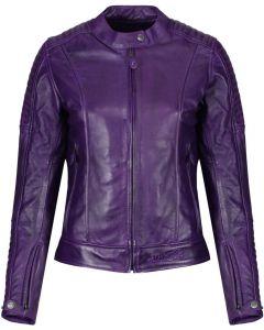 Motogirl Valerie Leather Jacket Purple