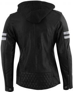 Rusty Stitches Joyce Ladies Jacket Hooded Black/White 104