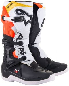 Alpinestars Tech 3 Boots Black/White/Red/Fluo Yellow 1238