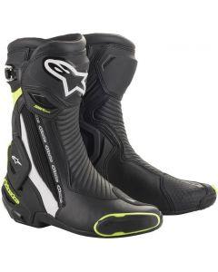 Alpinestars SMX Plus V2 Boots Black/White/Yellow Fluo 125