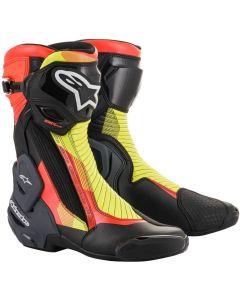 Alpinestars SMX Plus V2 Boots Black/Red Fluo/Yellow Fluo/Grey 1351