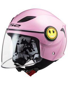 LS2 OF602 Funny Mini Gloss Pink