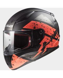 LS2 FF353 Rapid Deadbolt Matt Black/Orange
