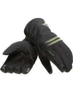 Dainese Plaza 3 D-Dry Gloves Black/Bronze Green O57