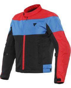 Dainese Elettrica Air Tex Jacket Black/Lava Red/Light Blue 25F