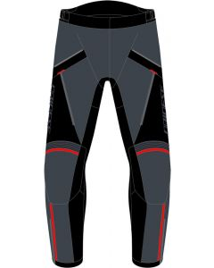 Dainese Tempest 3 D-Dry Trousers Ebony/Black/Lava Red 80E