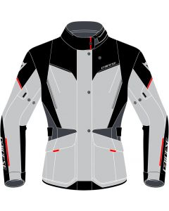Dainese Tempest 3 D-Dry Lady Jacket Glacier Gray/Black/Lava Red 45G