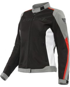 Dainese Hydraflux 2 Air D-Dry Lady Jacket Black/Charcoal Gray/Lava Red 60F