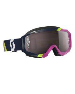 Scott Hustle MX Goggle Asymmetric dark blue/pink silver chrome lens