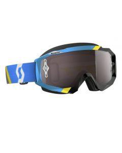 Scott Hustle MX Goggle Asymmetric blue/black silver chrome lens