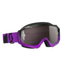 Scott Hustle MX Goggle Oxide purple/black silver chrome lens