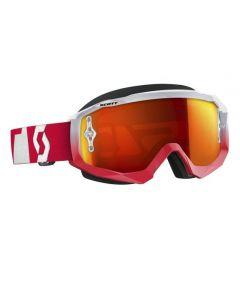 Scott Hustle MX Goggle Oxide red/white orange chrome lens
